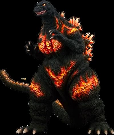 Burning Godzilla render