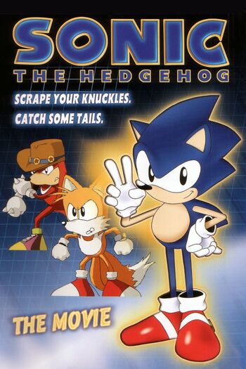 Sonic The Hedgehog- The Movie DVD box art