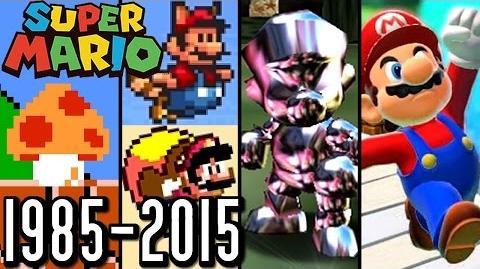 Super Mario ALL POWER-UPS 1985-2015 (Wii U, 3DS, N64, SNES)