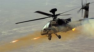 Apache Helicopter Firing Rockets MOD 45154922
