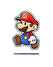Paper Mario Walking on Nothingness