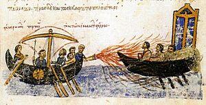 Fogo grego ilustração