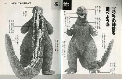 Godzilla Introduction Showa Godzilla diagram