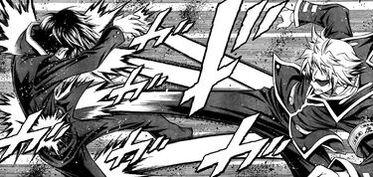 Zenkichi using Savate against Kumagawa