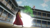 Boruto lança uma Bomba de Luz em Hanabi