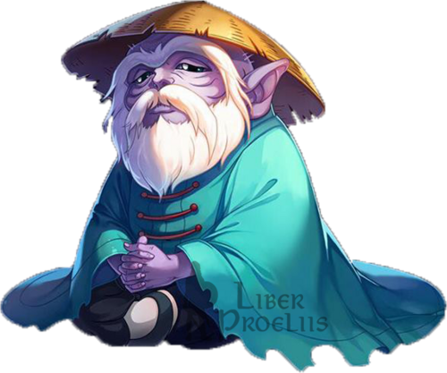 Mestre Ancião render por Alonik (Liberproeliis)