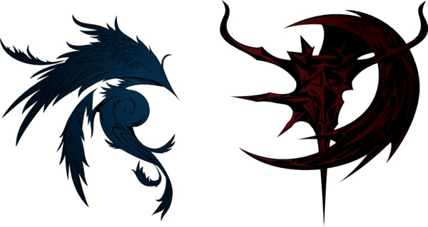 Dissidia final fantasy cosmos and chaos logos by eldi13-d5ufi7f