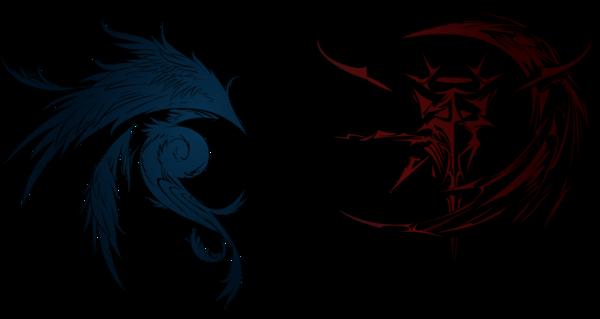 Dissidia final fantasy cosmos and chaos logos by eldi13-d5ufi7f