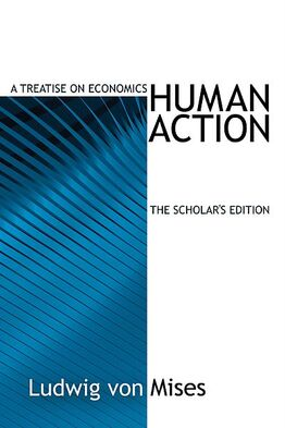 Human Action Scholar's edition blue cover