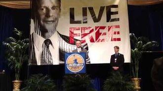 David Bergland at Libertarian Party convention