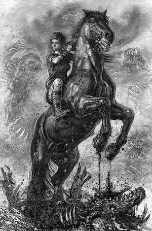 Renna auf Arlens Pferd