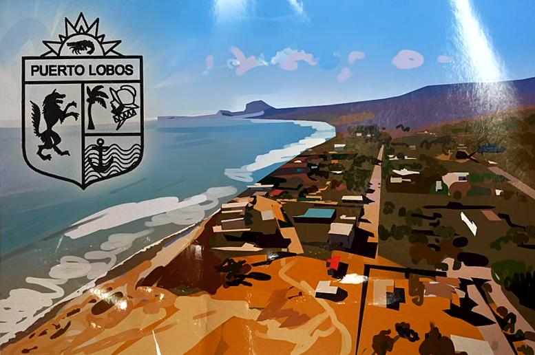 Puerto Lobos postcard