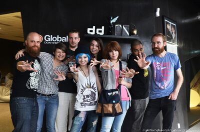 Harikaw & Faithcael with Dontnod (Michel Koch, Luc Baghadoust and Raoul Barbet)