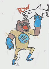 Chris' Room - Power Bear punches a shark