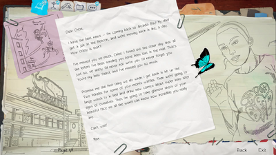 BtS Chloe's Letters Page 1 HOPEFUL