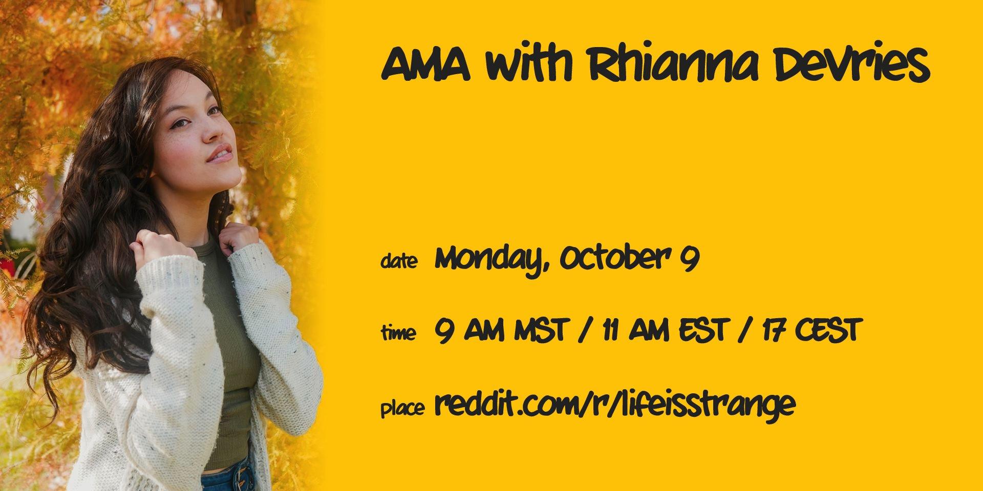 Reddit AMA (Rhianna DeVries) | Life is Strange Wiki | FANDOM