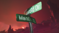 Mantroid's home planet (Mantle & Asteroid street signs)