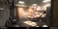 Hospital Room Concept Art by Gary Jamroz-Palma