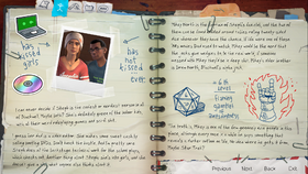 BtS Character Note Mikey and Steph