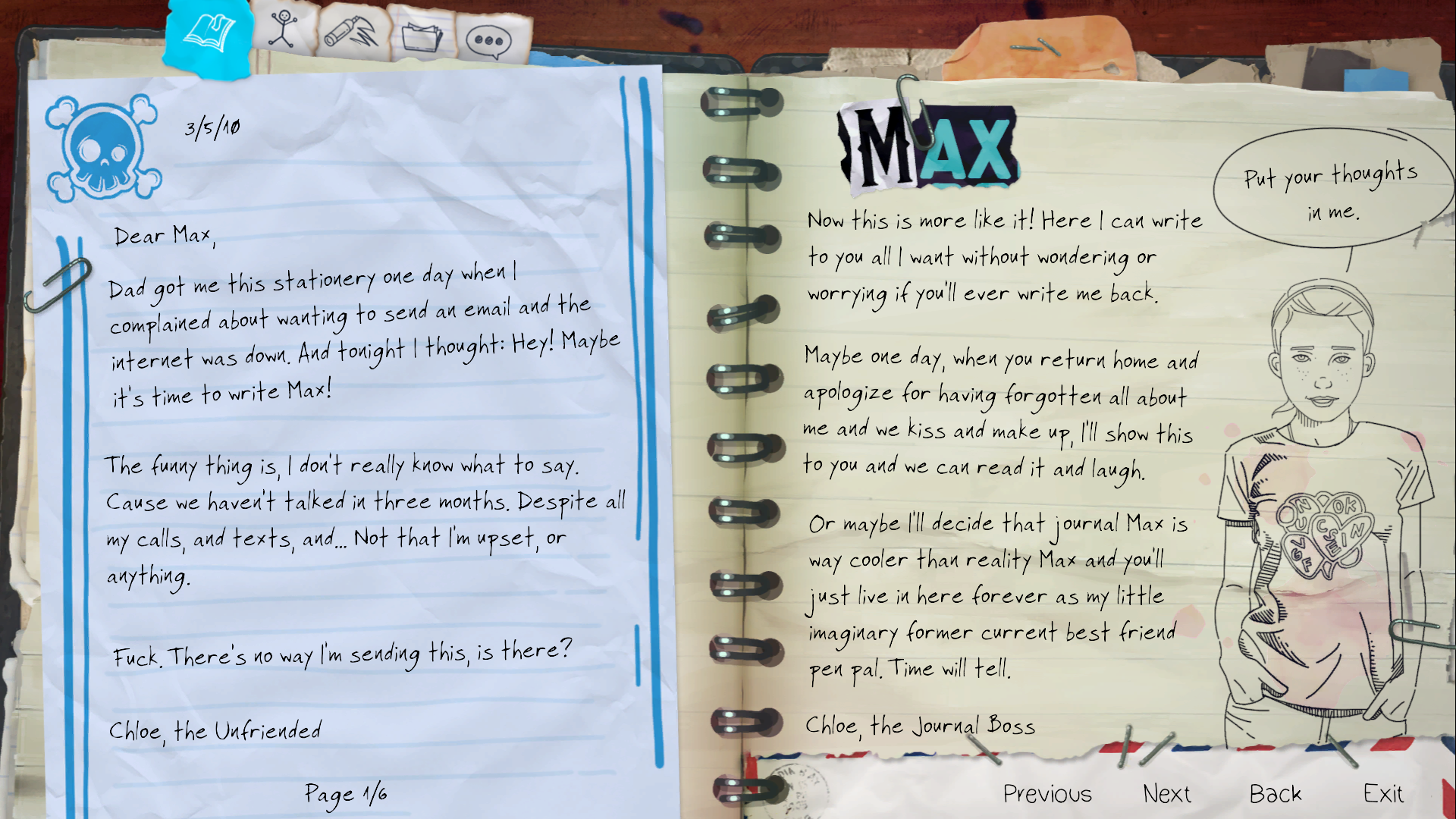 Chloe's Letters | Life is Strange Wiki | FANDOM powered by Wikia