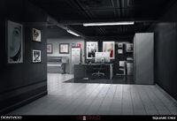 Entrada do Dark Room (Conceito de Arte)