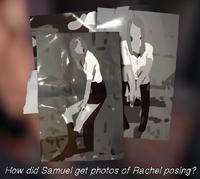 Samuel room Rachel posing