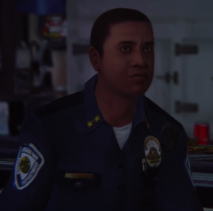 Officer diner face