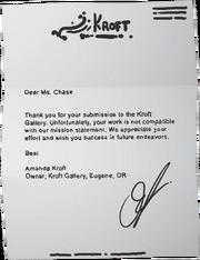 Kroft Gallery letter