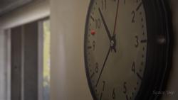 Ladybug in clock