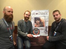 Michel Koch, Luc Baghadoust and Raoul Barbet at PAXEast2015 Best Plot Twist Award March 7 2015