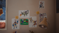 Chris' Room - Drawing Wall