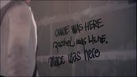 Chloe Rachel Max Was Here junkyard graffiti