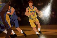 Captain Spirit - Charles playing basketball