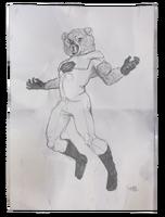 Daniel's Room - Power Bear Drawing