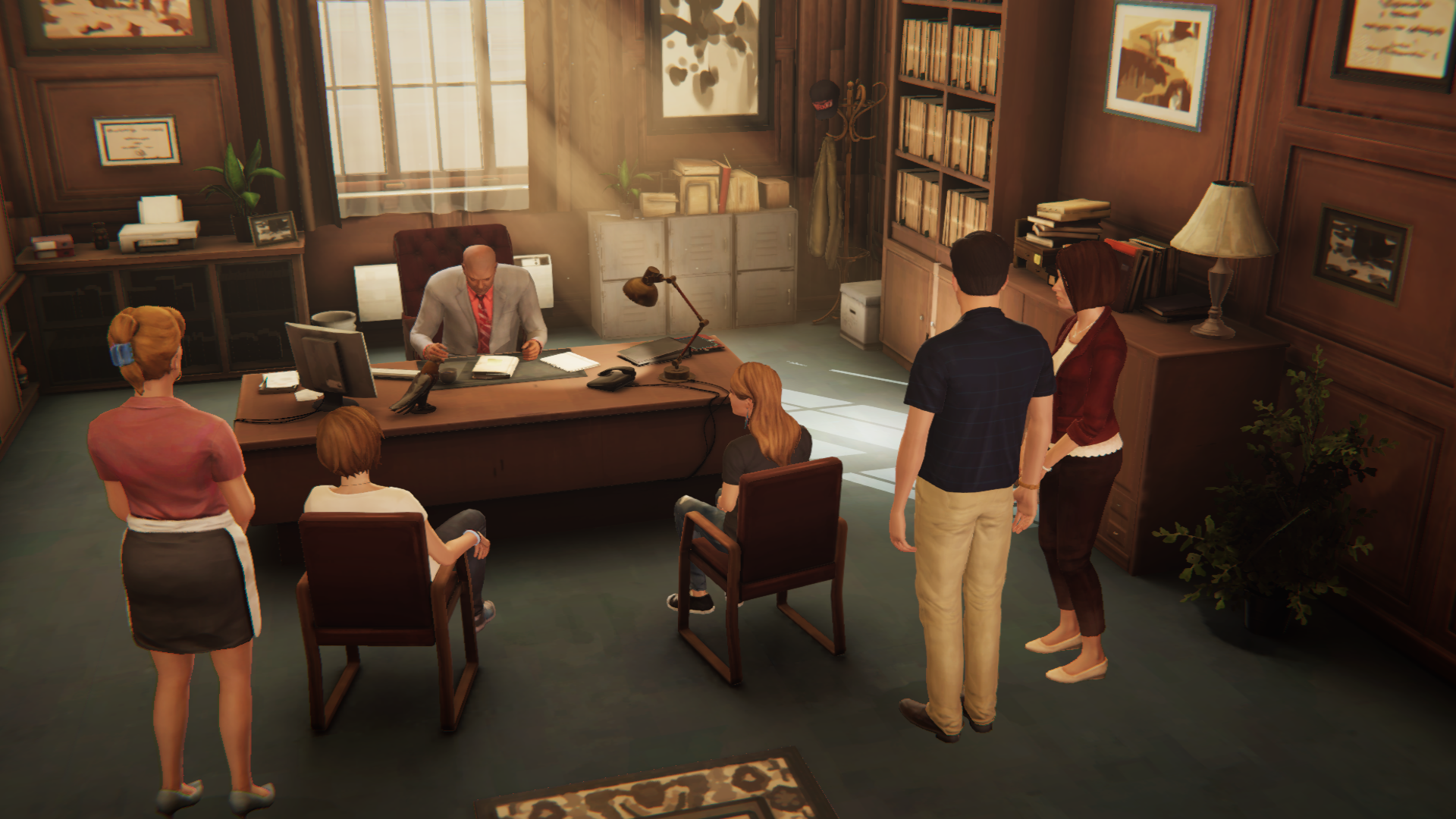 Chloe, Rachel, And Their Family Members Are Summoned To The Office,  Following The Girlsu0027 Skipping Of School The Previous Day. Principal Wells  Tells Chloe ...