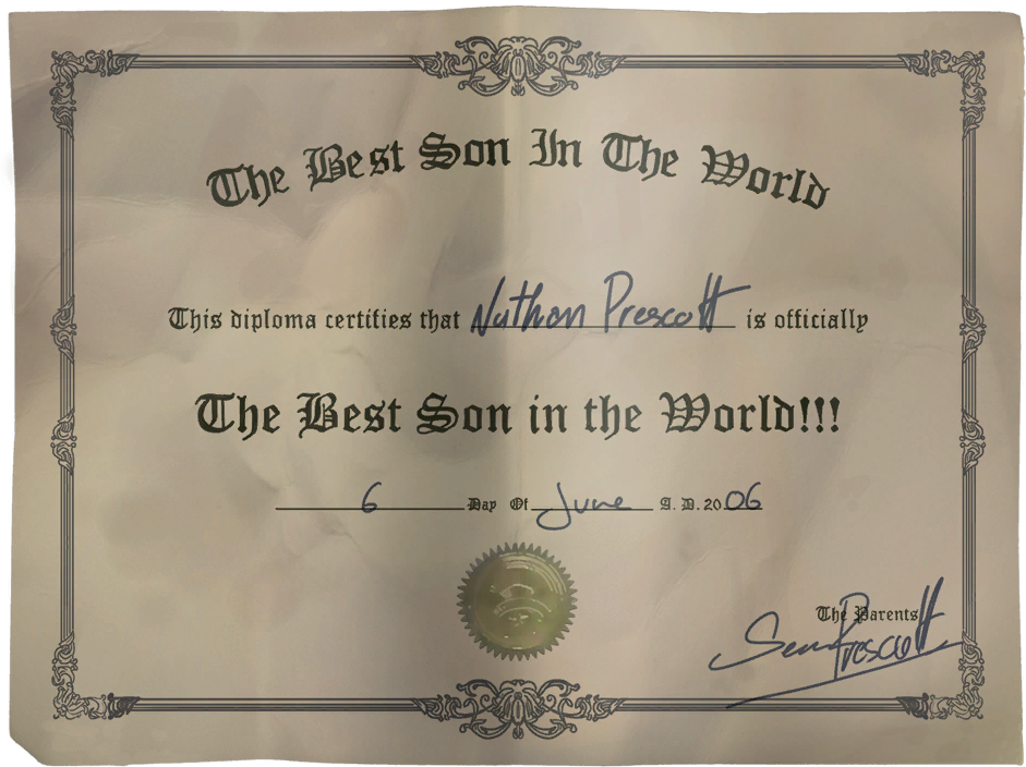 image nathan best son diploma png life is strange wiki  nathan best son diploma png
