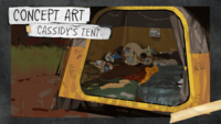 Official Character Profiles - Cassidy - Cassidy's Tent Concept Art