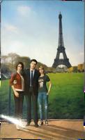Rachel, James, & Rose Amber - Paris Vacation Photo