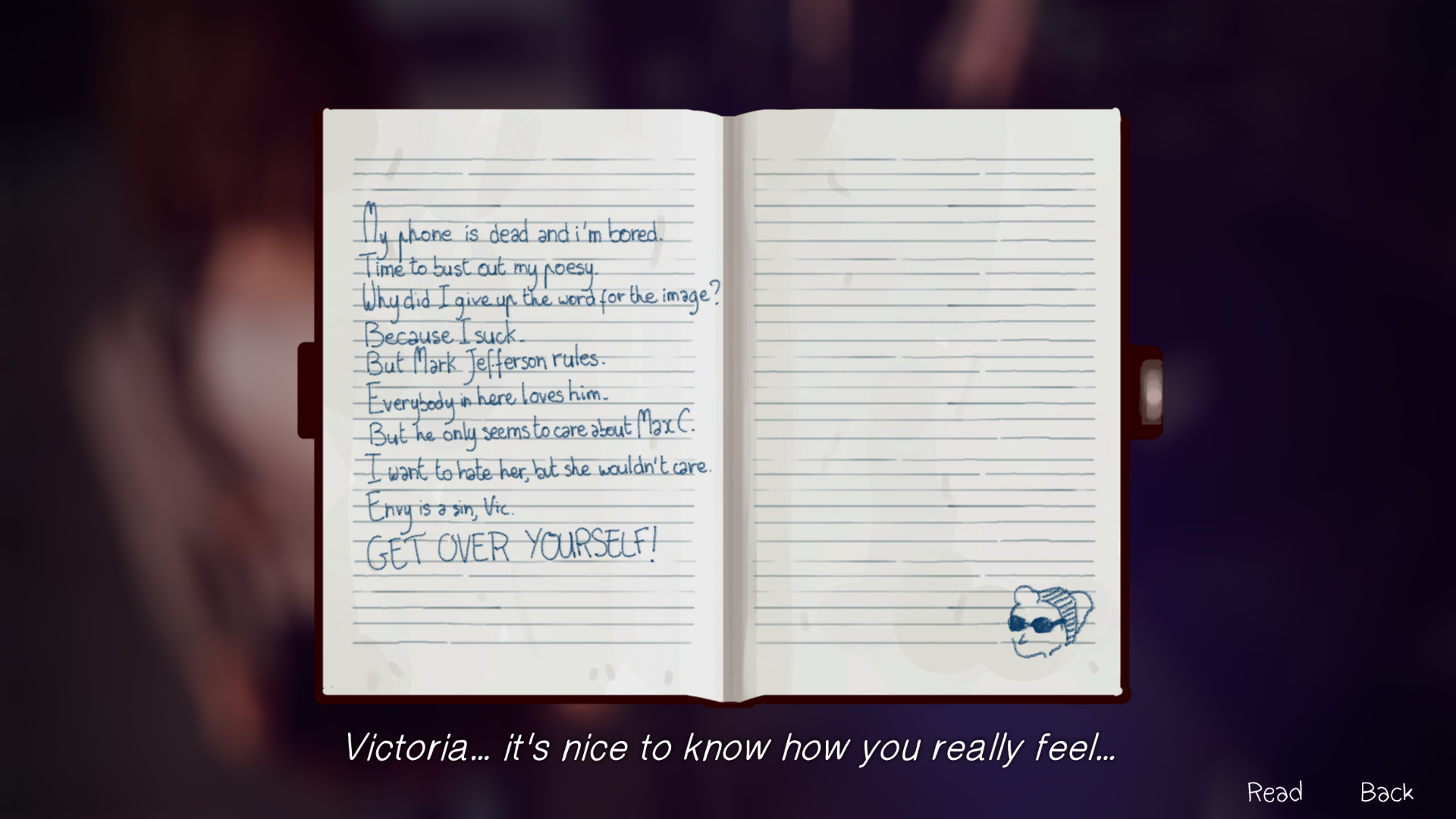 Victoria chase life is strange wiki fandom powered by wikia max can inspect victorias notebook in solutioingenieria Gallery