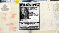 Journal note page missing person poster