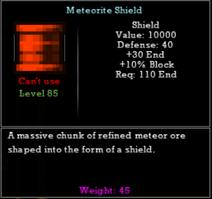 Meteorite Shield