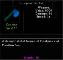Frostpine Hatchet
