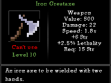 Iron Greataxe