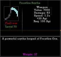 Frostfire Scythe