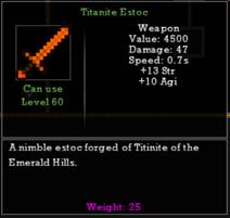 Titanite Estoc