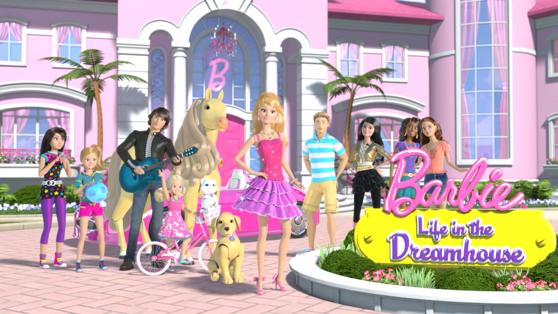 From Left To Right: Skipper, Stacie, Ryan, Chelsea, Tawny, Blissa, Taffy,  Barbie, Ken, Raquelle, Nikki And Teresa.