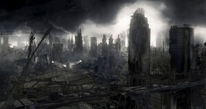 Futuristic Abandoned City