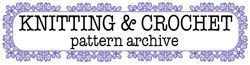 Knitting and Crochet Pattern Archive Wordmark