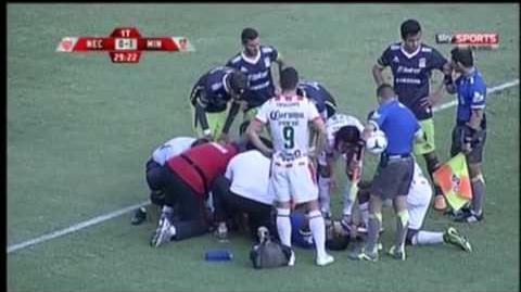 Lesion de árbitro Necaxa vs Mineros de Zacatecas