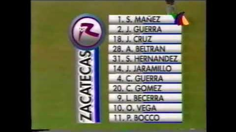Real Sociedad de Zacatecas vs Cruz Azul Hidalgo Invierno '98